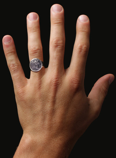 Alexander the Great Silver Ring for Men