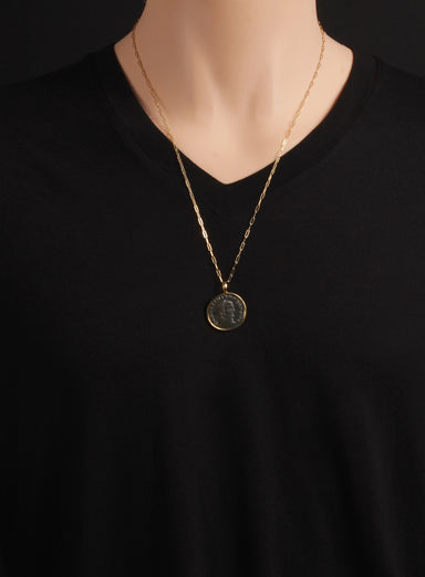 Maximianus Gold Necklace for Men