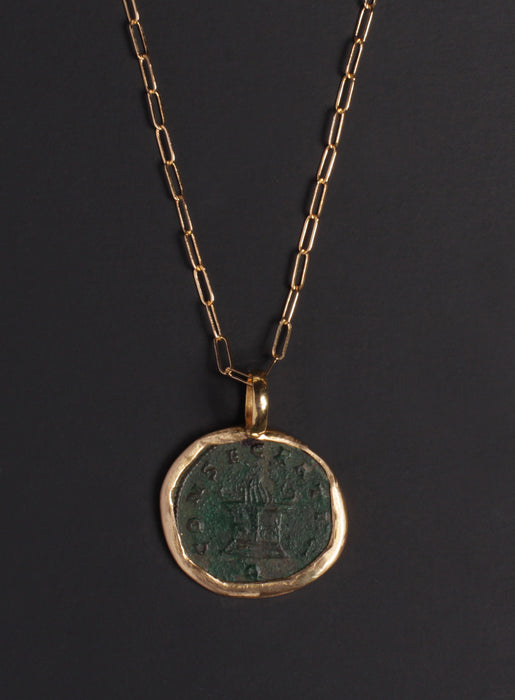 Trajan Decius Gold Necklace for Men