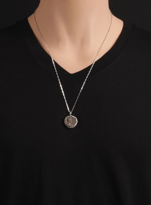 Claudius the Second Gothicus Silver Necklace for Men