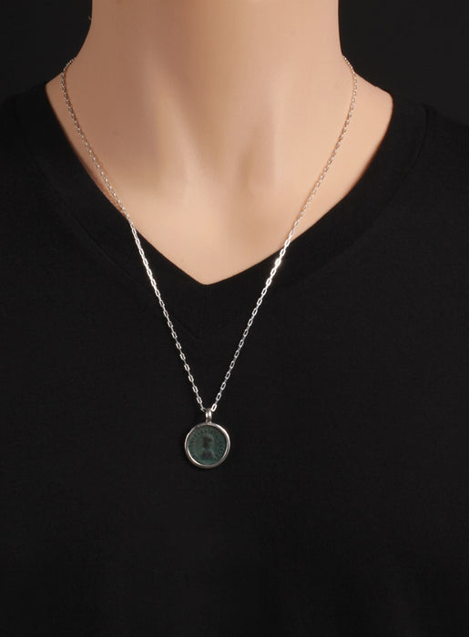 Licinius the Second Silver Necklace for Men