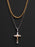 Two Tone Cross Necklace Set for Men