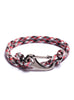 Red Camo Paracord Bracelet with Gun Metal Clasp