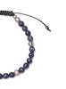 Dumortierite and Silver Men's Bracelet