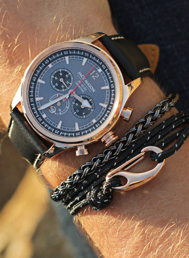 """Rope"" Gunmetal Chain Bracelet for Men"