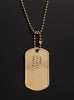 """AMOR VINCIT OMNIA"" (Latin for Love conquers all) dog tag necklace"
