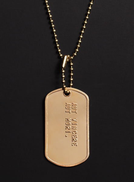 gold dogtags necklace for men