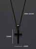 MEDIUM BLACK CROSS NECKLACE FOR MEN