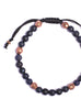 Dumortierite and Copper Men's Bracelet