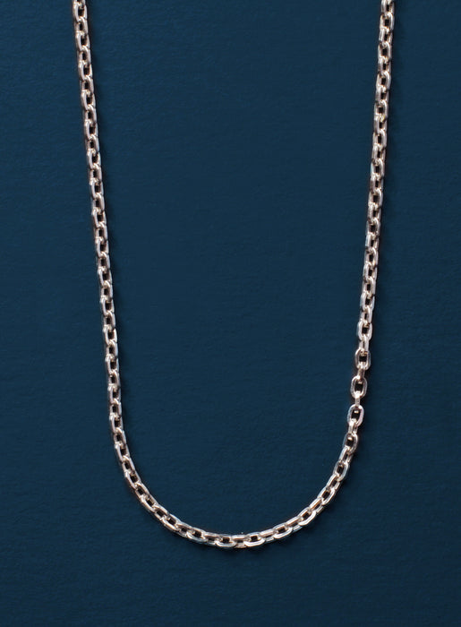 925 Sterling Silver Cable Chain Necklace for Men