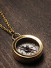 Gift for travelers and graduates. Compass necklace.