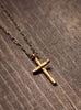 gold cross necklace for men