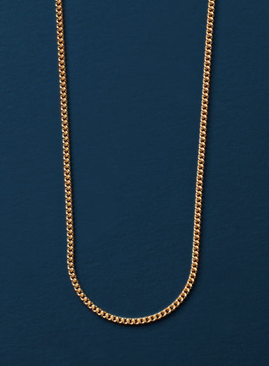 14K Gold Filled Curb Necklace for Men