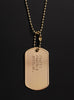 FORTIS FORTUNA ADIUVAT (latin for Fortune favors the brave) dog tag necklace