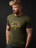 """Freedom of the Unknown"" Olive crew neck short sleeve t-shirt"