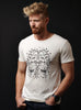 Headdress. Vintage white short sleeve t-shirt