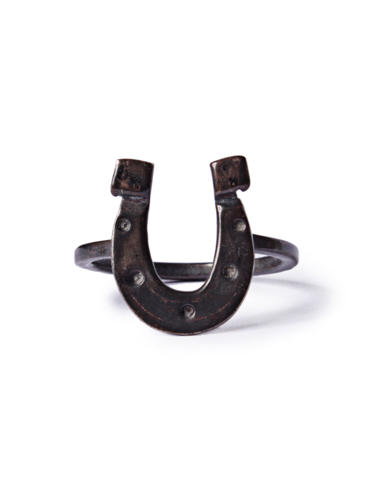 Horseshoe Sterling Silver Ring for Men