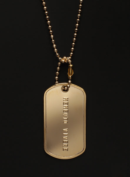 """Memento Vivere"" dog tag necklace"