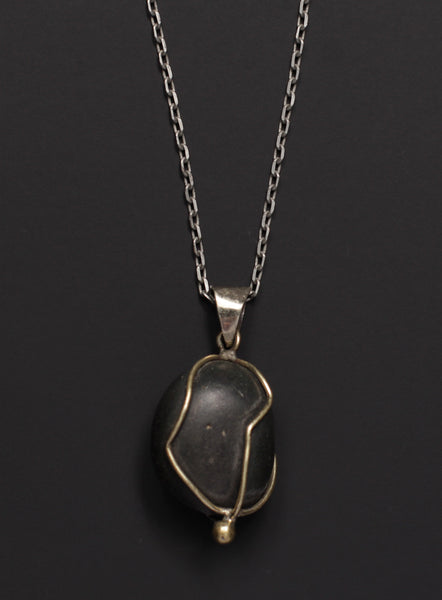 Himalaya Formation Fossil Necklace for Men No. 2