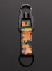 Leather Key Chain with Mash Carabiner - Camo