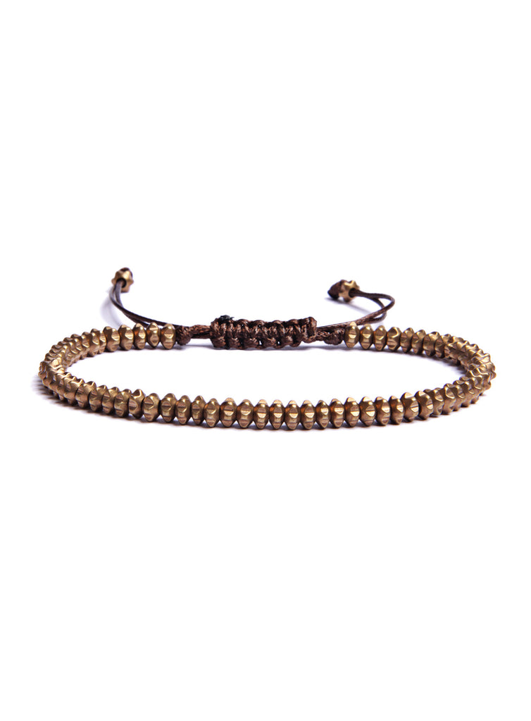 Small Brass Beads Men's Bracelet