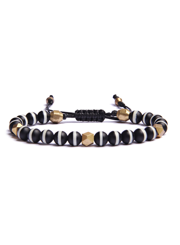 Tibetan Agate Bead Bracelet for Men
