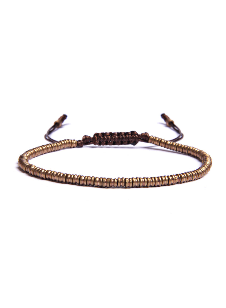 Mini Brass Beads Bracelet for Men