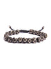 Geometric Silver Beaded Men's Bracelet