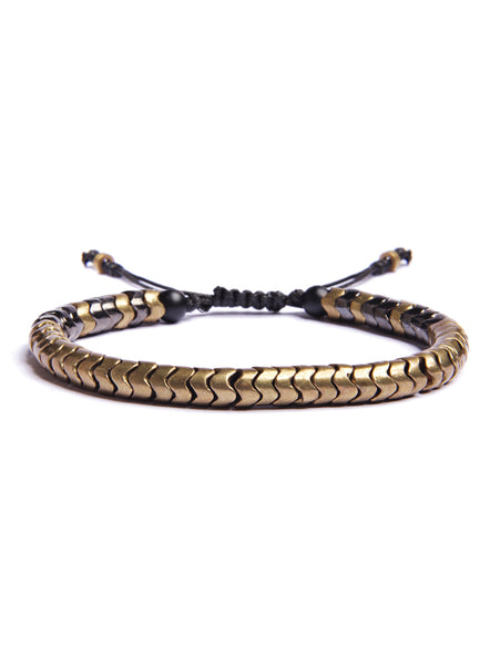 Brass Snake Bead Bracelet for Men.