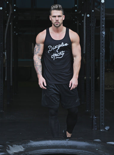 """Discipline & Heart"" Black Tank Top"