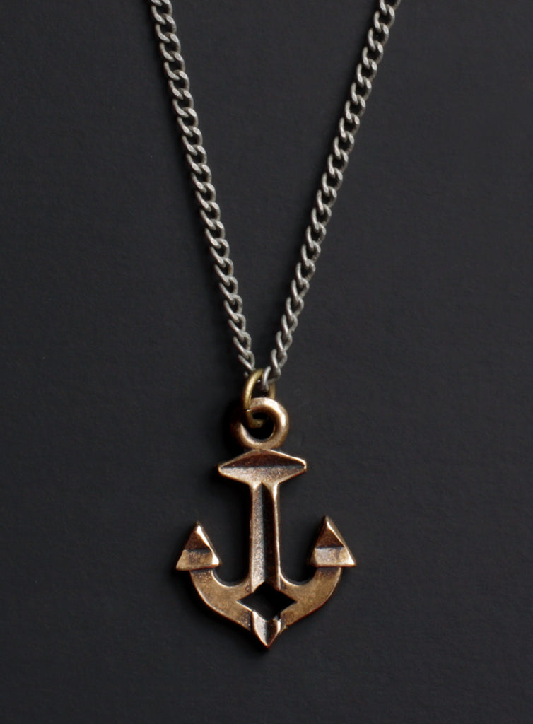 Bronze Nautical Anchor Necklace for Men