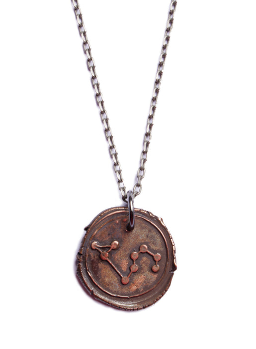 Wax Seal Leo Constellation Necklace