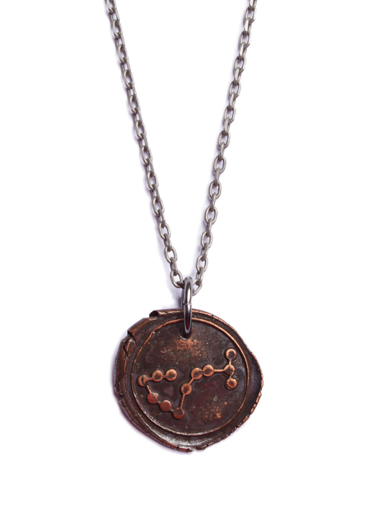 Wax seal scorpio constellation necklace we are all smith mens scorpio necklace mozeypictures Images