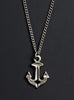 Silver Nautical Anchor Necklace for Men