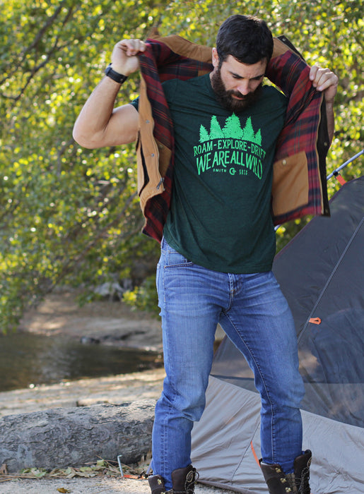 forrest green tshirt for men