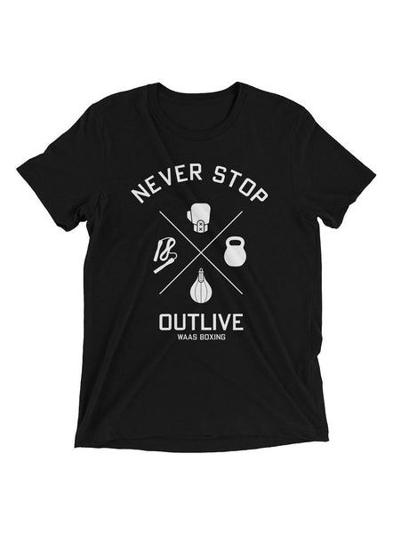 Never Stop / Outlive Short sleeve t-shirt