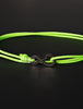 Infinity Bracelet - Neon Green cord men's bracelet with black clasp