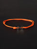 Infinity Bracelet - Orange cord men's bracelet with black clasp