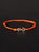 Infinity Bracelet - Orange cord men's bracelet with silver clasp
