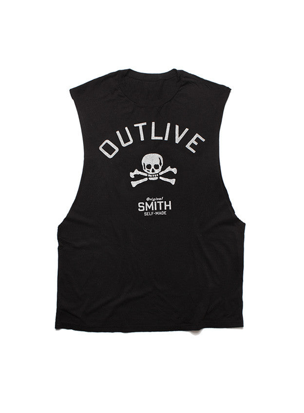 "Cutoff Muscle Tank ""Outlive #1"" Black (SOLD OUT)"