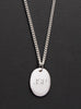 Oval tag pendant necklace