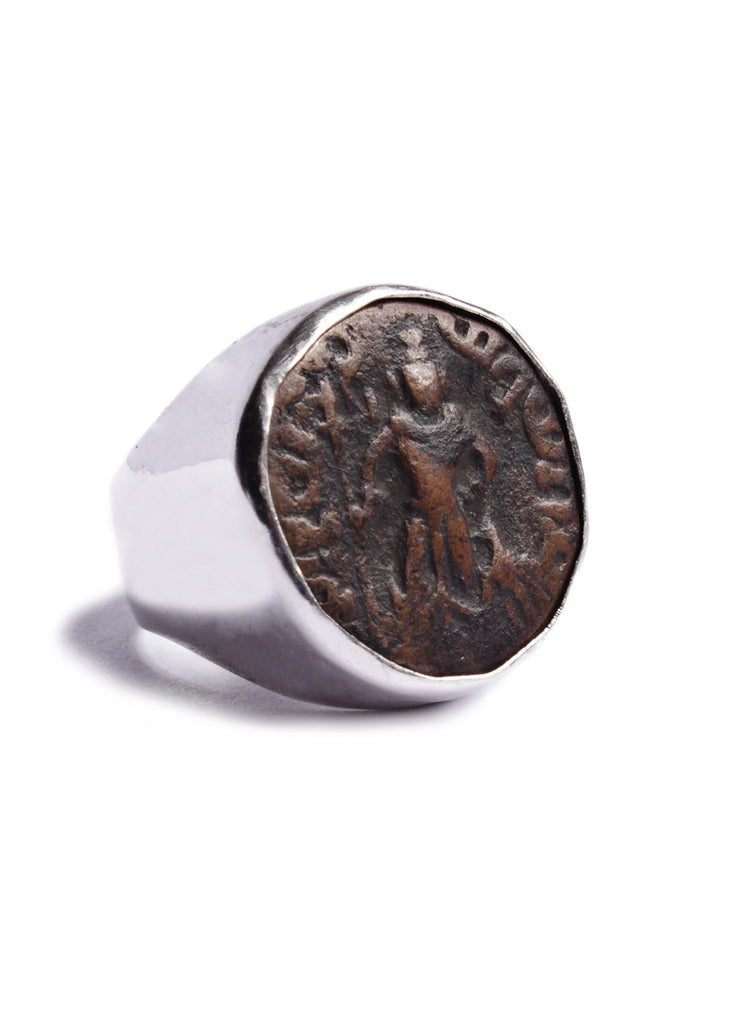 Yaudheya Rebublic Silver Ring for Men (God Of Victory)