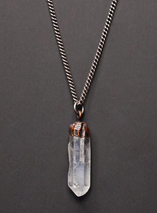 Quartz + Sterling Silver Necklace