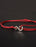 Infinity Bracelet - Red cord men's bracelet with silver clasp