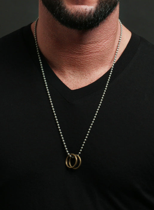 Two Rings Necklace for Men