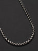 OXIDIZED STERLING SILVER ROUND BOX CHAIN MEN'S NECKLACE