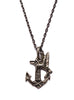 Silver anchor necklace for men