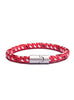 Red/White/Black Naval Rope Men's Bracelet