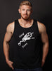 """Save my Soul"" black dry-wicking tank"