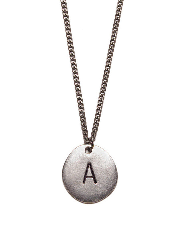 Silver Initial Necklace for Men (BACK IN STOCK)